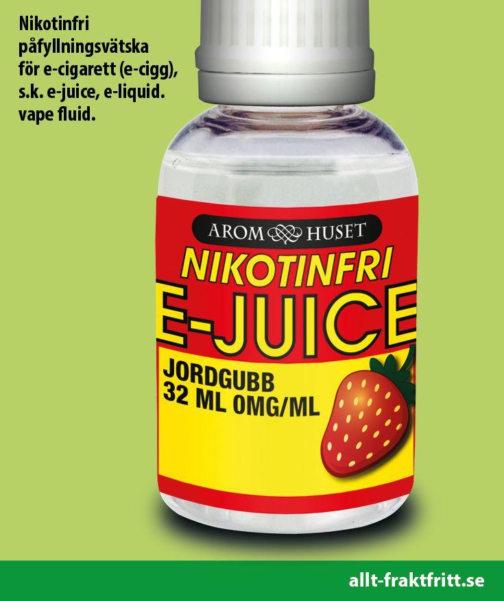 Nikotinfri E-juice Jordgubb 32ML