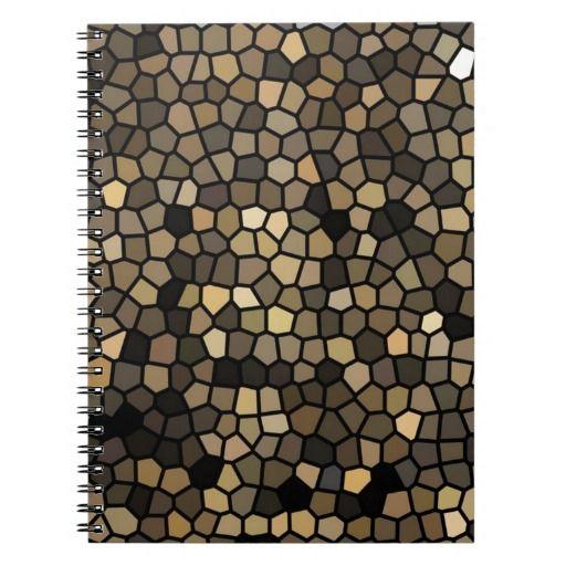 Black, beige and brown mosaics note book #geometric #mosaics