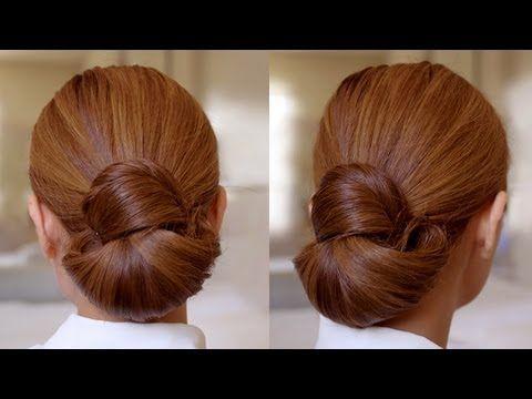 (5) Hair Tutorial: Easy Elegance Hair Bun - YouTube