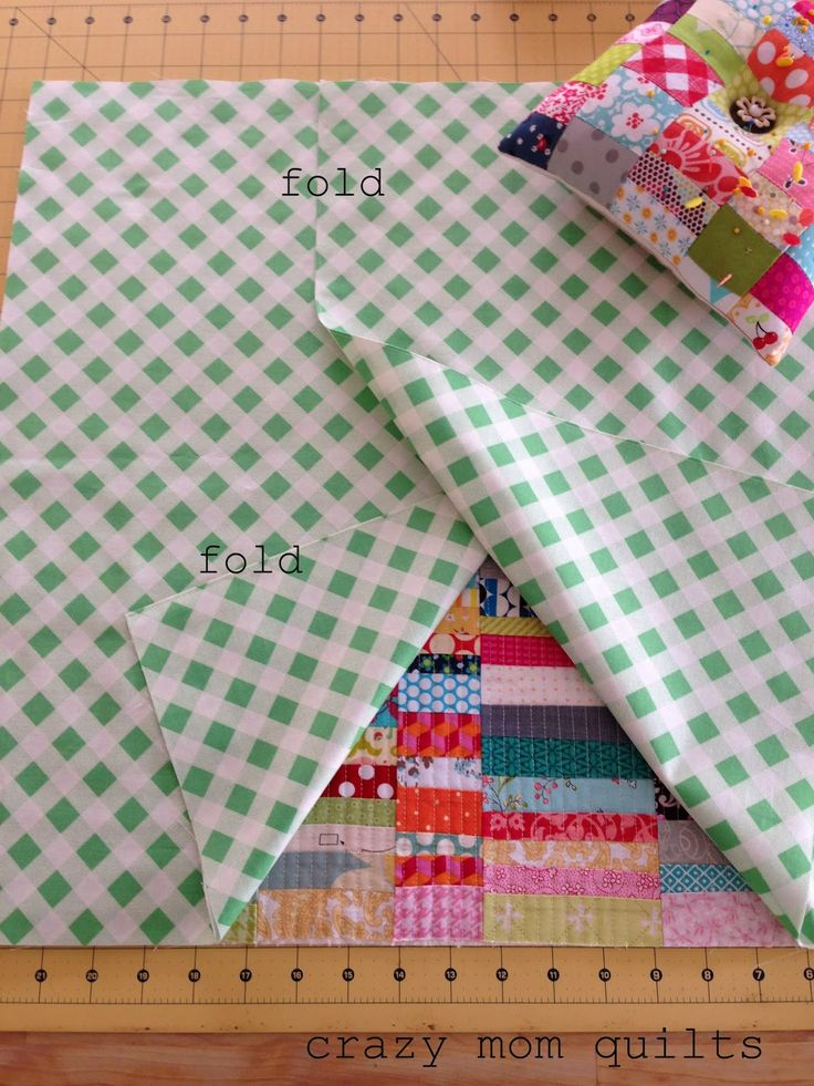 crazy mom quilts: how to make an envelope backed pillowo