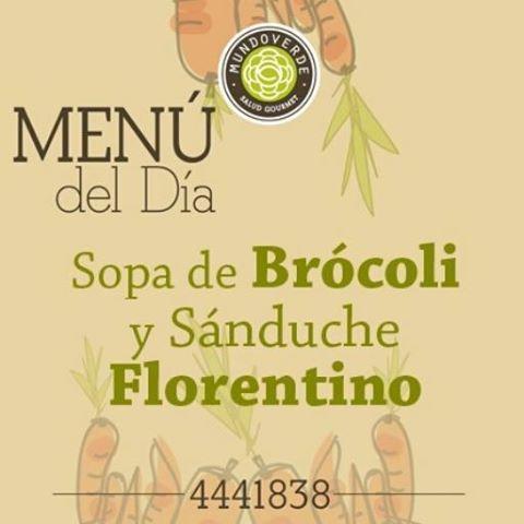 ¡Este  es nuestro #MenuDelDía para este #Miercoles! Te esperamos en  nuestros restaurantes de #VíaPrimavera #CityPlaza y #ElTesoro.  #MundoVerde