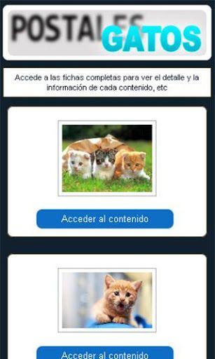 Divertidas postales de gatitos en HD. Todas las razas, fondos de pantalla de macotas virtuales gatos vestidos graciosos e imágenes increíbles en paisajes y acciones de la máxima calidad.<p>Una recopilación de tarjetas con adorables gatitos cachorros y bebes entrañables. Ya puedes descargar estas nuevas tarjetas virtuales con un lindo toque de humor para enviar a tus amigos por Whatssap, Telegram, Line o por cualquier otro sitio. Compártelas en tu Facebook, Twitter o en la Red social que…