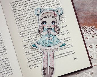 Lolita Loves Bows laminated bookmark.  Lolita is a very cute and elegant girl! She loves to be well dressed all the time! She believes she is a princess :)  Aprox. 19cm height.  Have fun :)  *******  Please look at my policies for purchasing info. If you have any question, dont hesitate to ask.  COPYRIGHT:  © Carla Chaves - All rights reserved.  These designs are ONLY for your PERSONAL use. DO NOT sell them! DO NOT use any of the graphics in a web site or any other type of media (on and…