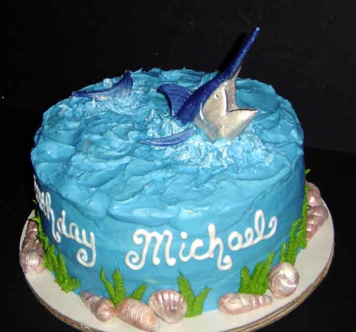 22 best marlin cake images on Pinterest Birthday ideas Cakes