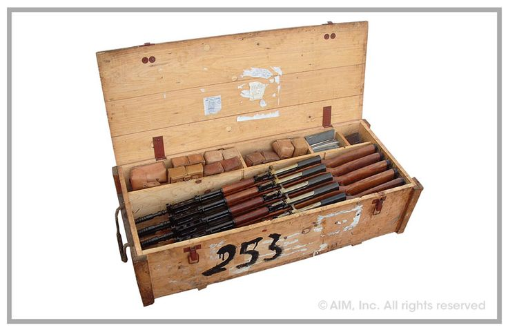 CRATE OF 10 Yugoslavian Model 59/66 7.62x39 SKS Rifles Cons. Serial Numbers