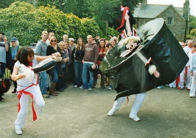 Padstow Obby Oss - read how this very quirky tradition got started in Cornwall www.thequirkytraveller.com