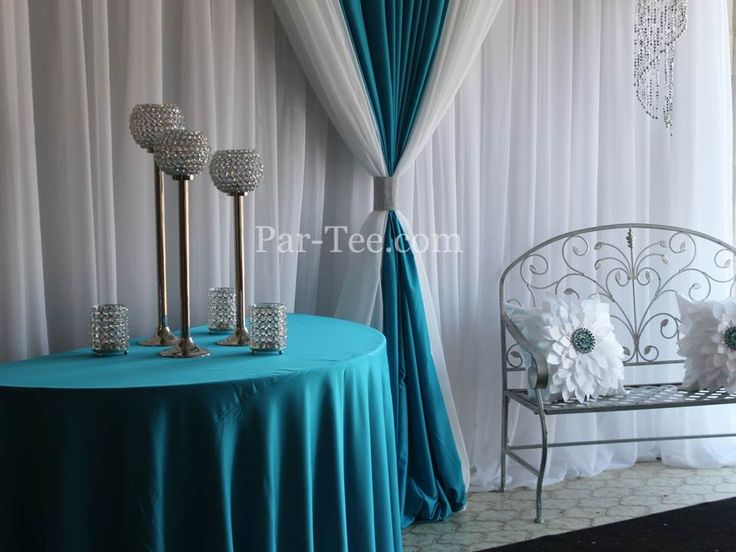 Custom Entry Décor Featuring Teal Satin