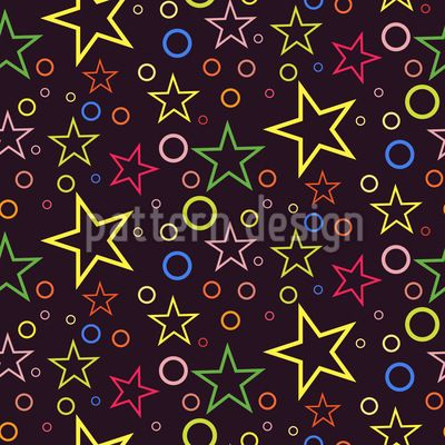 Circle Sky Vector Pattern Vector Pattern by Elena Alimpieva at patterndesigns.com