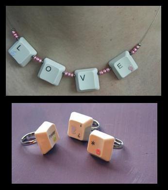 reciclar teclas de teclado http://blogmanualidades.com/tag/reciclado/