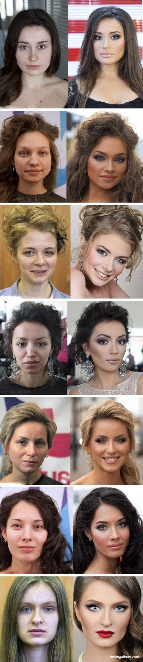 Lady: before and after