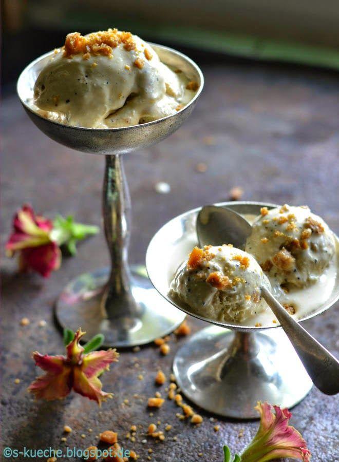 Wattle Seed Ice Cream Eis aus Wattle Seed, den gerösteten australischen Akazienblütensamen schmeckt unvergleichlich gut nach Aromen von Kaffee, Schokolade und Haselnüssen