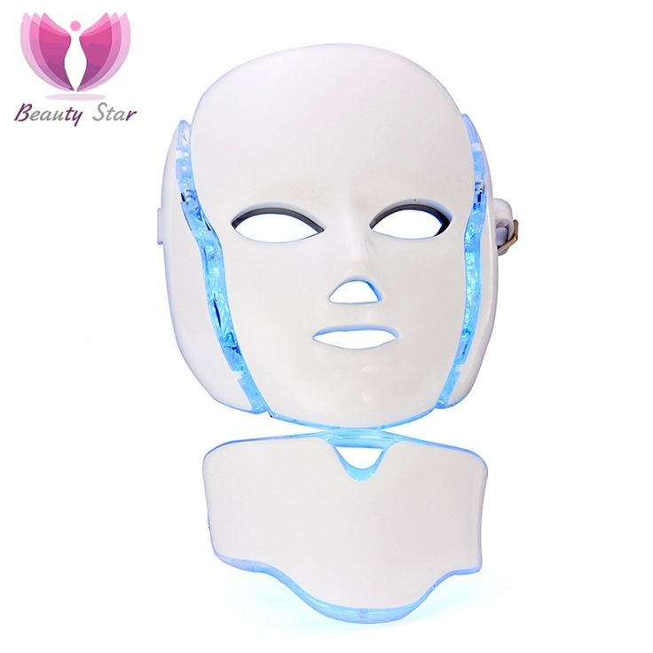 112.69$  Buy here - http://aliez7.worldwells.pw/go.php?t=32722317287 - 7 Color LED Facial Neck Mask With EMS Microelectronics  LED Photon Mask Wrinkle Acne Removal Skin Rejuvenation Face Beauty Spa 112.69$