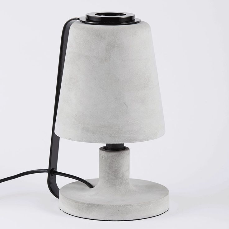 The Charlie Concrete Table Lamp-Black | Urban Couture - Designer Homewares & Furniture Online