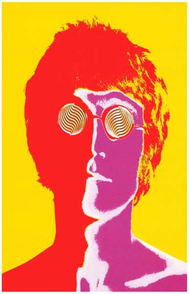 Imagine how great your wall will look with this awesome psychedelic portrait poster of The Beatles John Lennon! Art by Richard Avedon. Ships fast. 11x17 inches. Also available in a set containing all