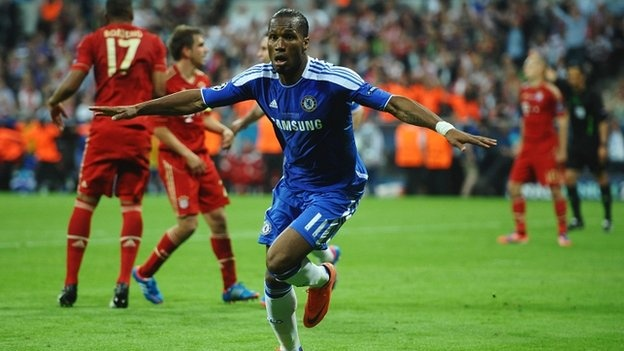 Drogba equalises - with 5 minutes to go