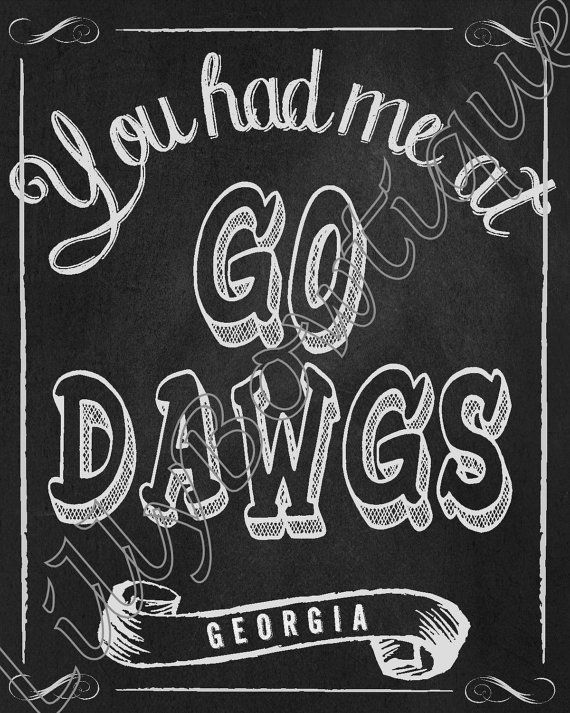 Go Dawgs!!!!!    This is a great print for UGA couples who are just starting their journey together or for a couple that has been together for some
