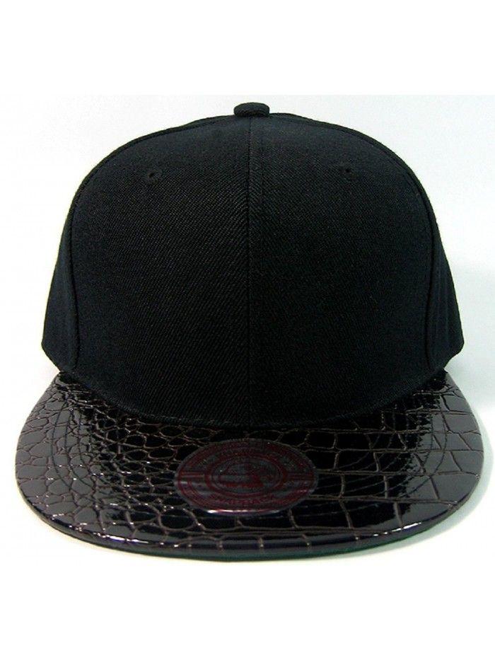 Black Alligator Faux Skin Snapback Hat Cap Flat Bill C211ira4cy1 Western Cowboy Hats Hats Wholesale Hats
