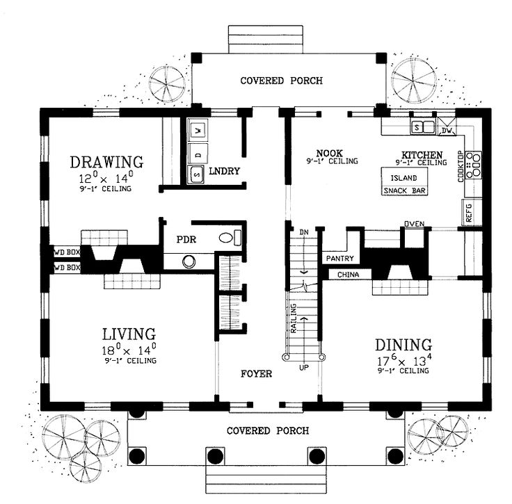 First Floor Plan Of Colonial House 95225