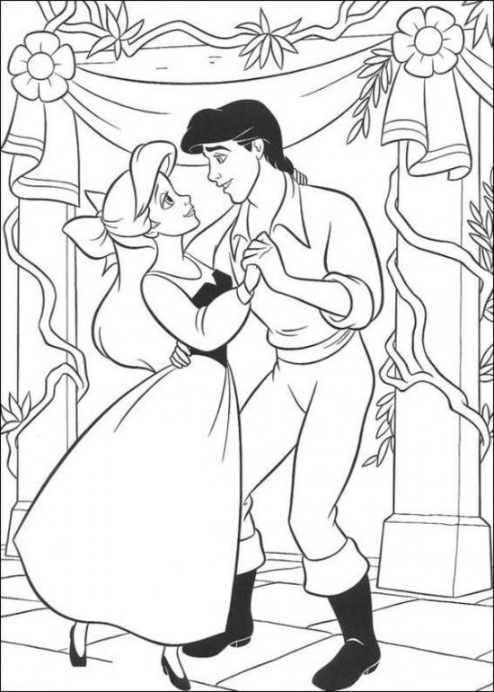 Coloring Pages of Ariel The Little Mermaid Picture 33 550x770 Picture