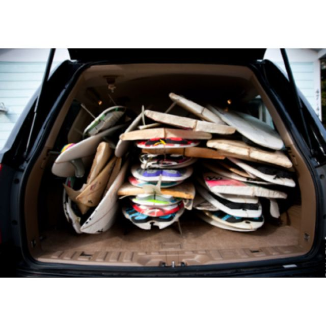 Rather have a car full of surfboards than a backpack full of books!!!