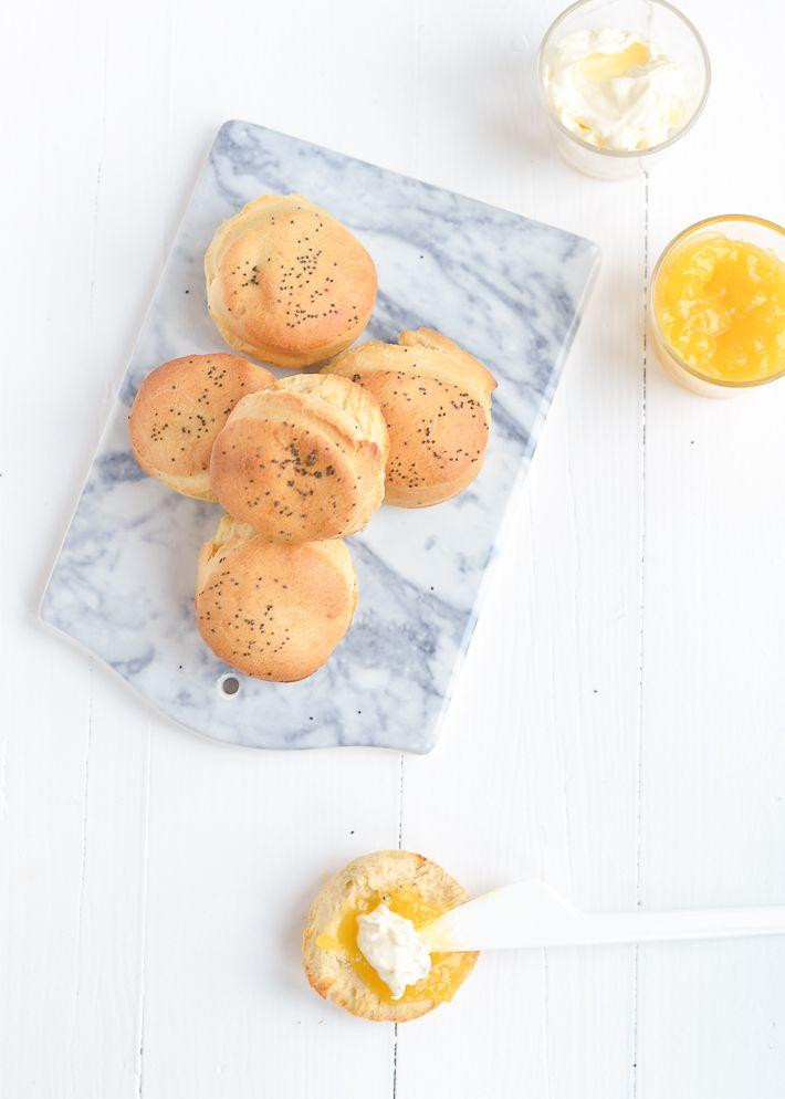 citroenscones met maanzaad