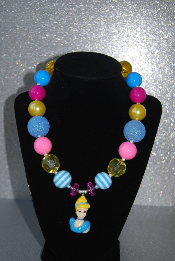 Sale cinderella chunky beaded necklace chunky necklaces pinterest