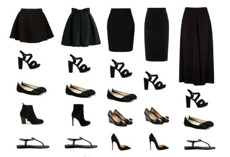 как сочетать юбку и обувь