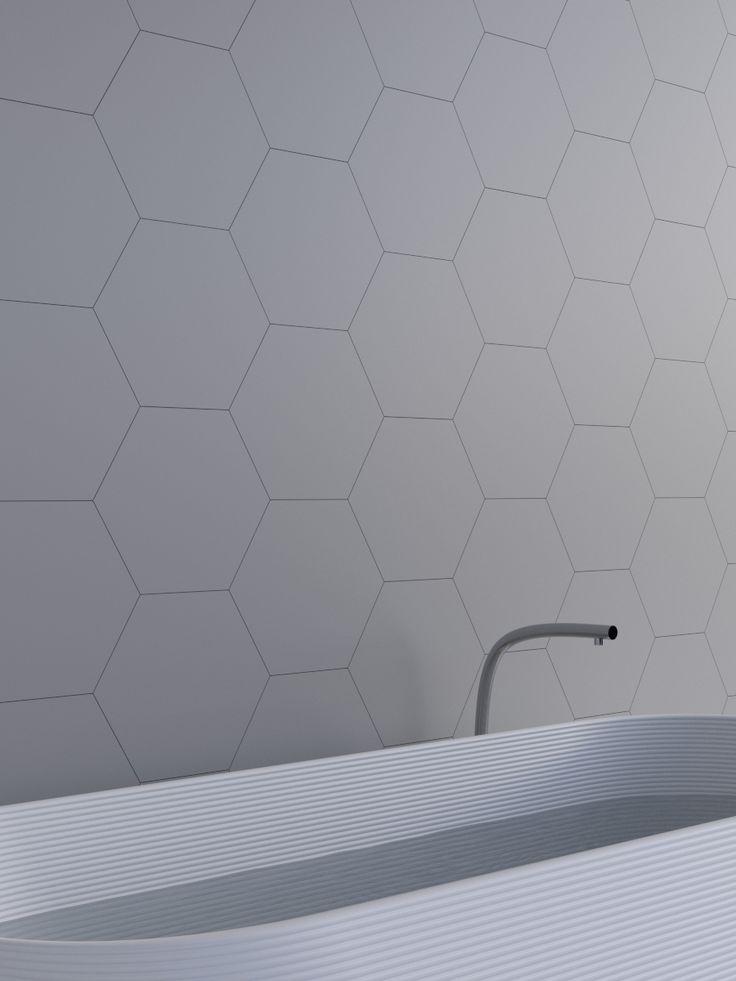 Hexagon Flat in your bathroom. Kalithea wall panels.