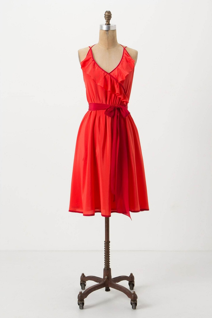 I wonder if this red dress would be cute for my sister's wedding?