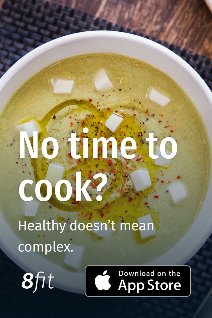 No time time to cook? The 8fit app helps you with quick but healthy recipe. Check it on the AppStore