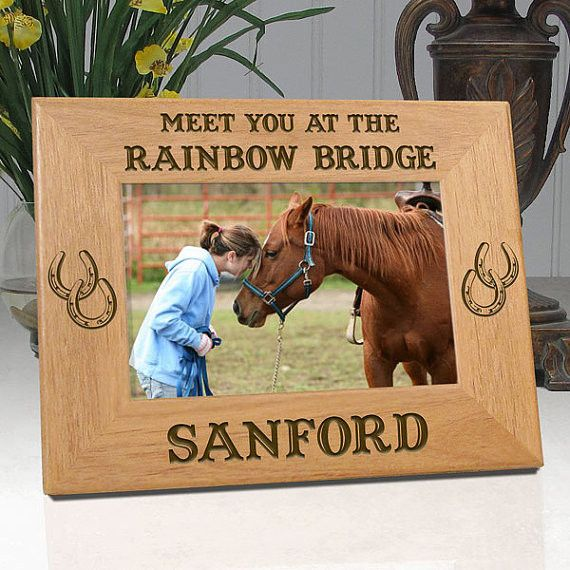 "Personalized Memorial Horse Frame ""Meet You At The Rainbow Bridge"""