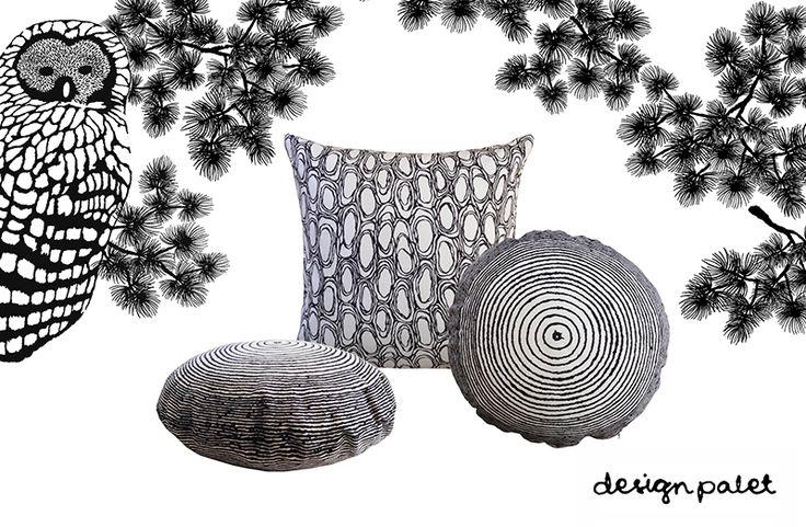 Uudistunut Vuosirengas -tyyny on saatavilla nyt irroitettavana päällisenä! UUTUUTENA myös Kaarna - tyynynpäällinen, molempiin sopii 50x50cm sisätyyny. #habitare2015 #design #sisustus #messut #helsinki #messukeskus