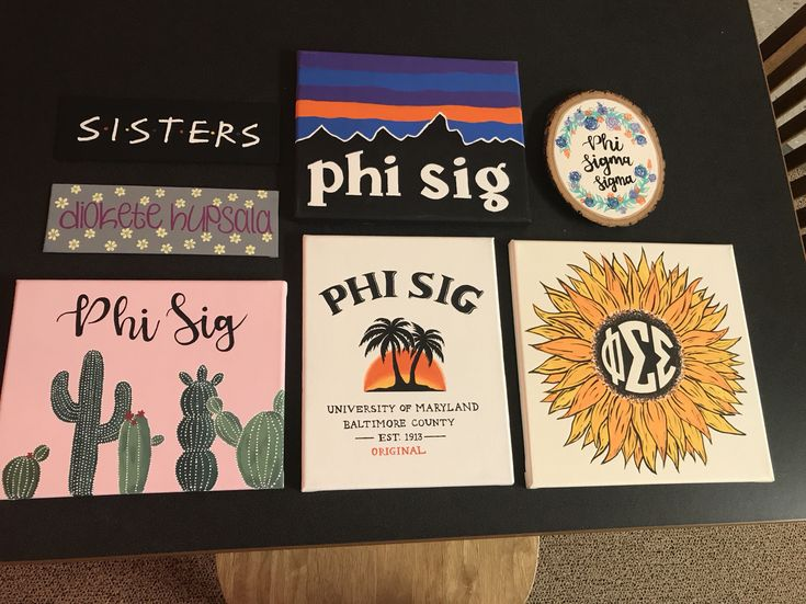 Sorority Canvas Phi Sigma Sigma