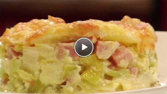 Winterse ovenschotel  met prei en spekjes- recept | 24Kitchen