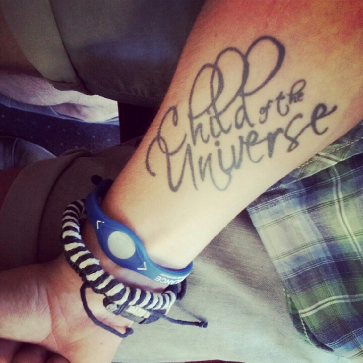 My child of the universe tattoos child of the universe for Great falls tattoo shops