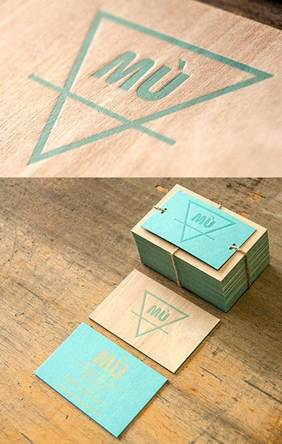 Unusual Letterpress Printed Wooden Business Card | Business Cards | The Design Inspiration