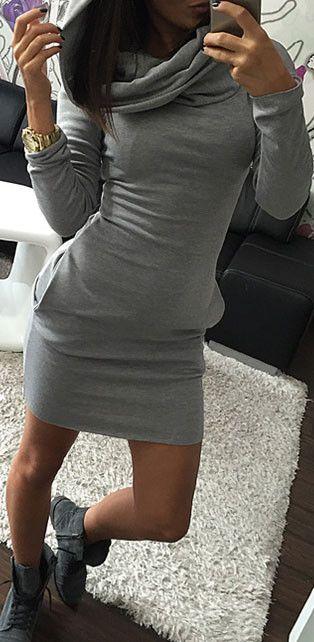 Guess Me Hooded Sweatshirt Dress