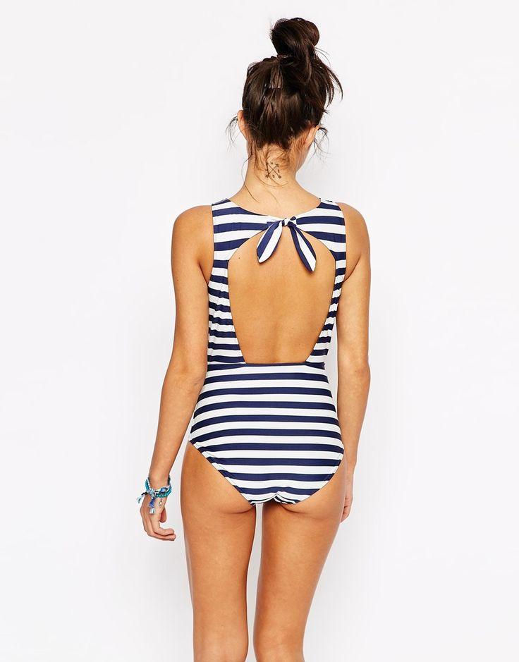 Bild 2 von Jack Wills – Badeanzug mit Cut-Out am Rücken
