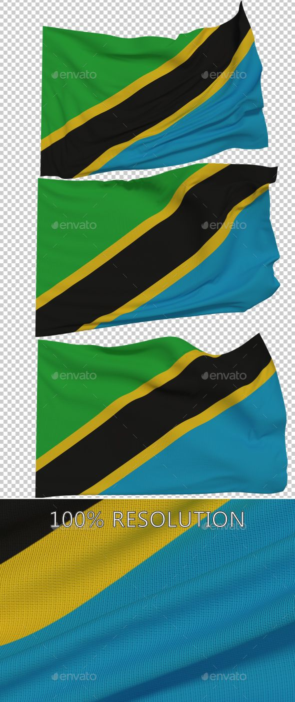 Hello Everyone. This is my new Flag of Tanzania. Hope you find it useful! 3 PNG images with Alpha and 3 copy in low resolution Re