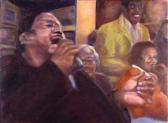 Joe Turner Sings The Blues, oil on linen MJSchacker