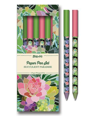 Love this Succulent Paradise Paper Pen Set on #zulily! #zulilyfinds