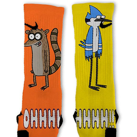 Regular Show Customized Nike Elite Socks by FreshElites on Etsy