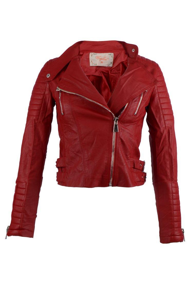 Met deze #Rode #dames #bikerjack zie je er stijlvol uit! Bij bij BK Leder ook aparte kleuren #bikerjacks waaronder deze #Rood #Bikerjack voor Dames.