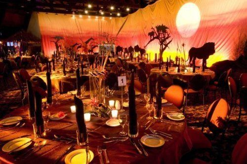Lion King themed wedding reception! Doubt I will actually do it but it looks FANTASTIC!!!