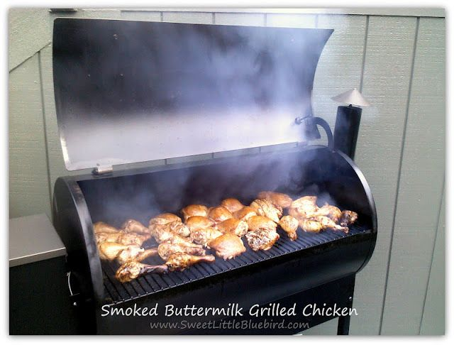 Smoked Buttermilk Grilled Chicken  - tried & true recipe | SweetLittleBluebird.com