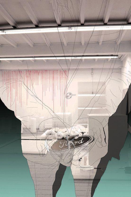 Ramon Schoonbrood 'Untitled I' Digital Metallic Print