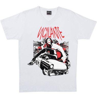 Vigilante Men's T-Shirt $A38.95 Sizes: S-5XL Black or White Round neck or v neck  http://www.wildsteel.com.au/vigilante/