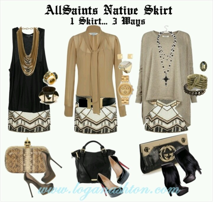 3 Wayz: AllSaints Native Skirt