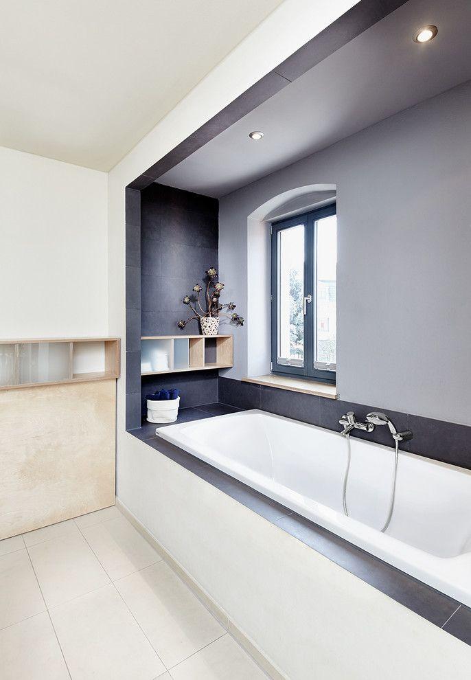 Badezimmer modern schiefer kreative bilder f r zu hause - Badezimmer schiefer ...