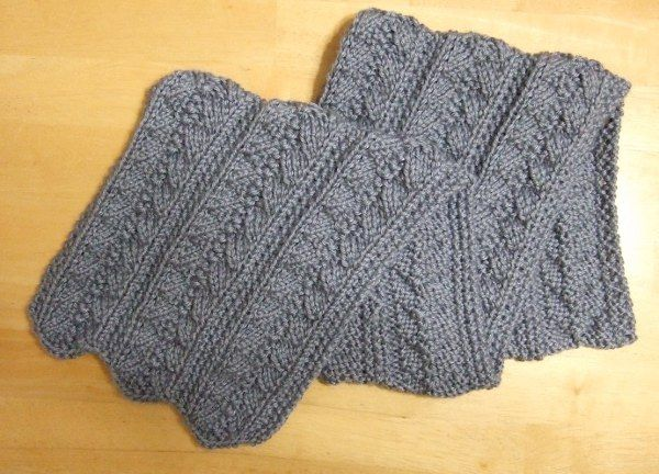 Free Pleated Scarf pattern